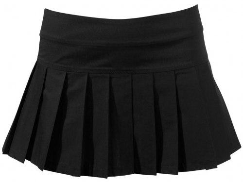 Skládaná černá sukně
