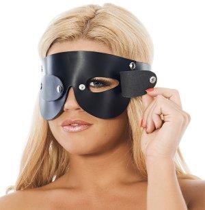 Kožená maska na oči s odnímatelnými klapkami Rimba – Masky na oči