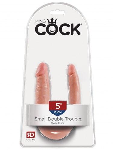 Dvojité realistické dildo King Cock Small Double Trouble