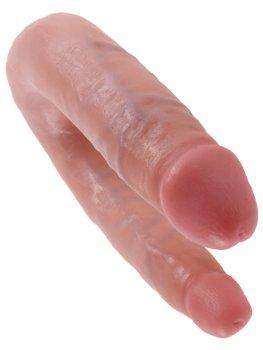Dvojité realistické dildo King Cock Small Double Trouble – Oboustranná a dvojitá dilda