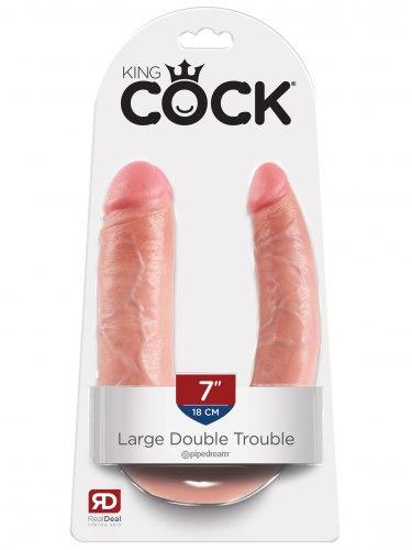 Dvojité realistické dildo King Cock Large Double Trouble