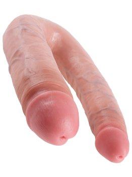 Dvojité realistické dildo King Cock Large Double Trouble – Oboustranná a dvojitá dilda