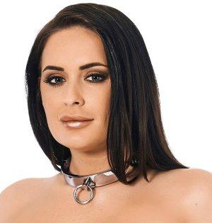 Široký ocelový obojek s kroužkem Rimba – Obojky a vodítka pro BDSM hrátky