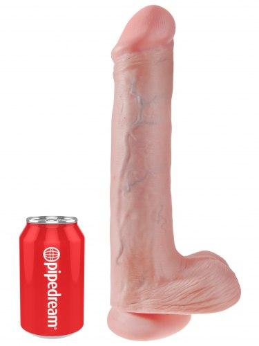 "Realistické dildo s varlaty King Cock 13"""
