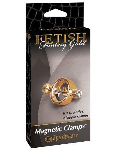 Magnetické svorky na bradavky Fetish Fantasy Gold