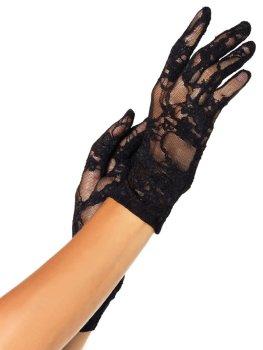 Krátké krajkové rukavice Leg Avenue – Sexy rukavice a návleky na ruce