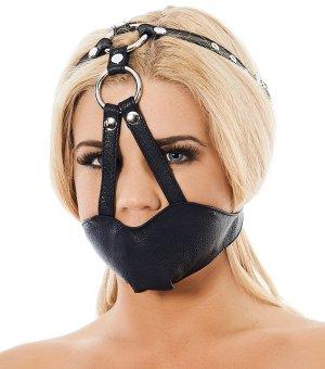 Kožená maska na ústa (náhubek) Rimba – Roubíky