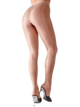 Punčochové kalhoty s otevřeným rozkrokem, tělové – Dámské sexy punčochy