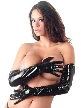Dlouhé lakované rukavice – Sexy rukavice a návleky na ruce