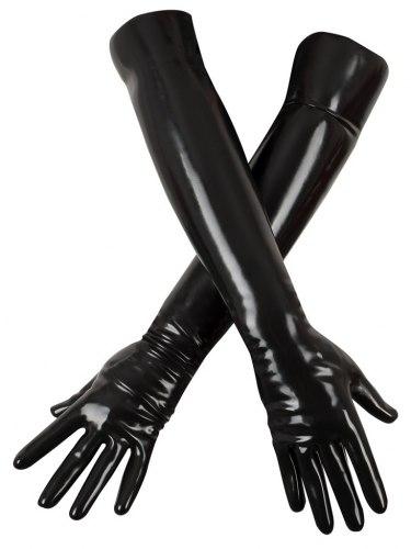 Dlouhé rukavice z chlorovaného latexu