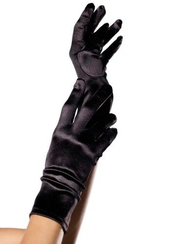 Krátké saténové rukavice