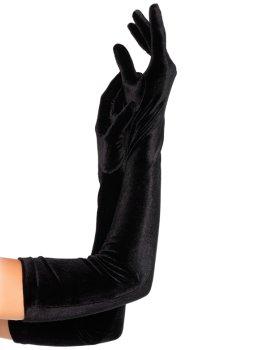 Extra dlouhé sametové rukavice – Sexy rukavice a návleky na ruce