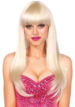 Paruka s ofinou Bangin - blond, dlouhá – Paruky a příslušenství k parukám