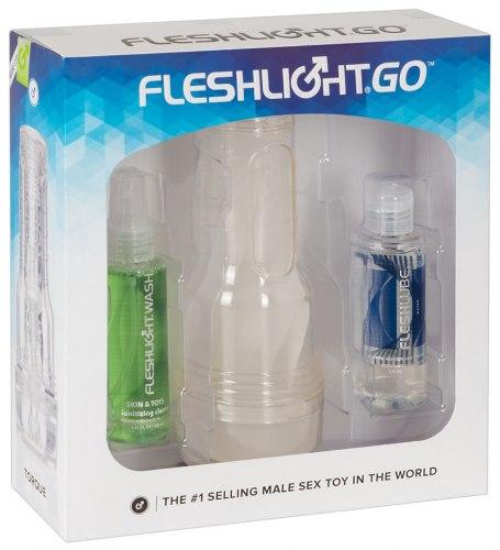 Výhodná sada - masturbátor Fleshlight GO Torque + příslušenství
