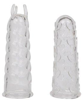 Stimulační návleky na prsty Finger Teaser, 2 ks – Návleky na prsty, vibrátory, dilda a jiné hračky