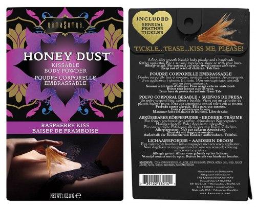 Slíbatelný tělový pudr Honey Dust Raspberry, 28 g