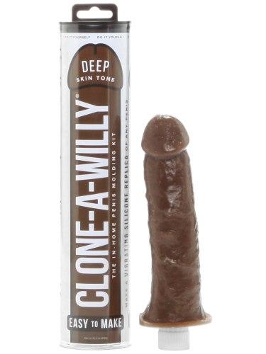 Odlitek penisu Clone-A-Willy Deep Skin Tone - vibrátor