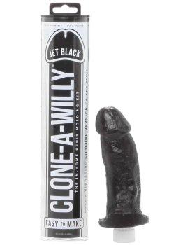 Odlitek penisu Clone-A-Willy Jet Black - vibrátor – Odlitky penisu