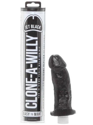 Odlitek penisu Clone-A-Willy Jet Black - vibrátor