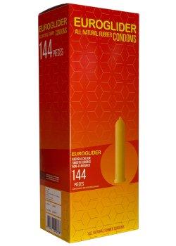 Kondomy Euroglider, 144 ks – Akční a výhodné balíčky kondomů