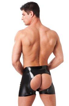 Latexové boxerky s odhaleným zadkem – Latexové spodní prádlo