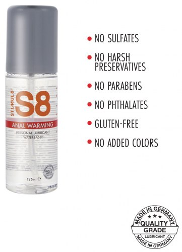 Anální lubrikační gel S8 Anal Warming - hřejivý