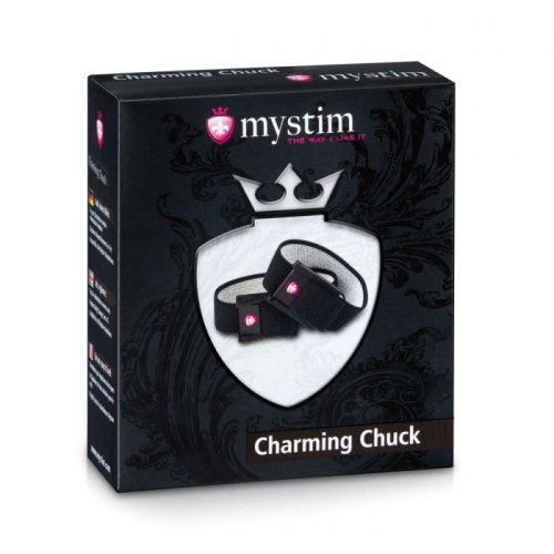 Pásky na penis a varlata Charming Chuck (elektrosex)