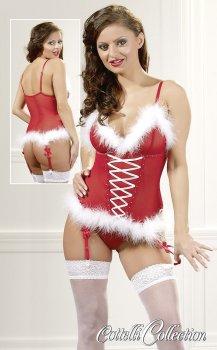 Vánoční korzet s kožíškem – Dámské kostýmy na roleplay