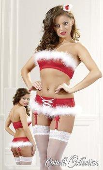 Vánoční set Cottelli (podprsenka a kalhotky) – Erotické komplety
