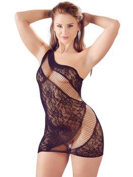 Sexy krajkové minišaty na jedno rameno Mandy Mystery – Dámské sexy šaty a minišaty