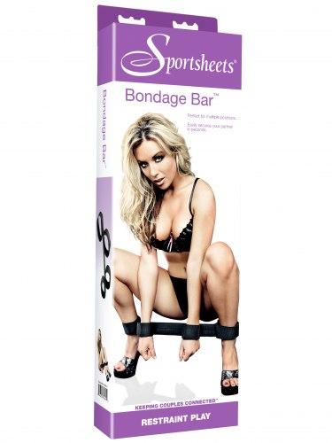 Roztahovací tyč s pouty na ruce a nohy Sportsheets