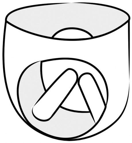 Latexové legíny se dvěma vnitřními kapsami