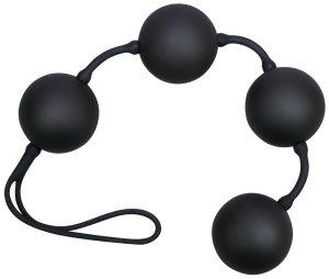 Venušiny kuličky Black Balls Velvet – Nevibrační venušiny kuličky