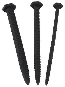 Silikonové vroubkované dilatátory Screw Dilator Set, sada 3 ks – Sondy (dlouhé dilatátory)