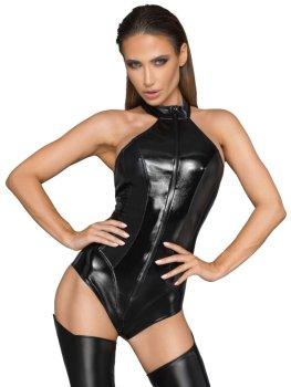 NOIR Lesklé body s dlouhým zipem – Sexy dámská body