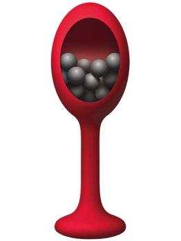 Silikonový anální kolík s vnitřními kuličkami The Rattler – Klasické anální kolíky