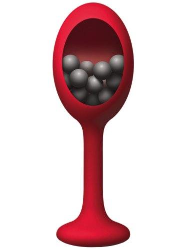 Silikonový anální kolík s vnitřními kuličkami The Rattler