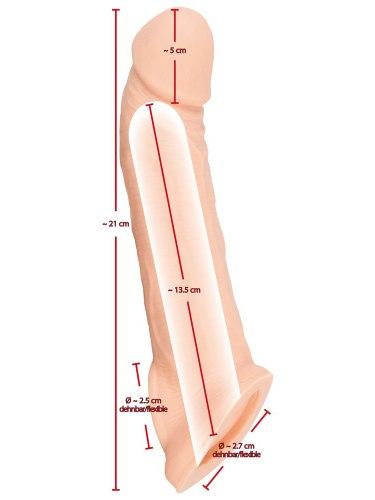 Zvětšovací návlek na penis a varlata Nature Skin