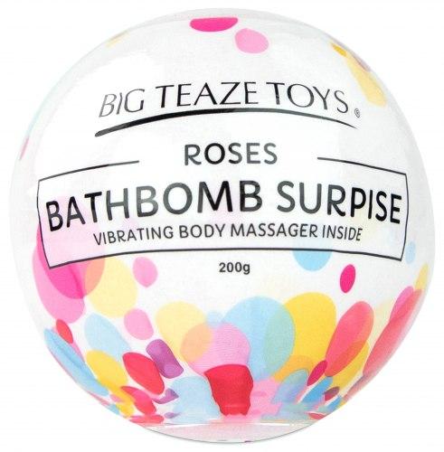 Bomba do koupele s vibrační patronou Surprise, růže