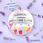 Bomba do koupele s vibrační patronou Surprise, levandule