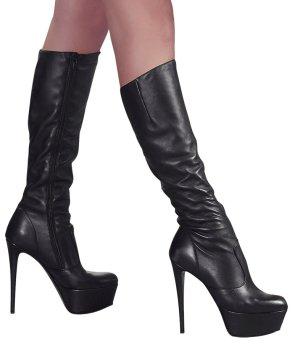 Kozačky na vysokém podpatku Cottelli Collection – Erotické boty