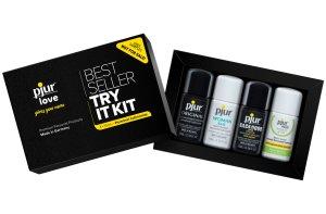 Testovací sada lubrikačních gelů PJUR Try It Kit – Lubrikační gely na vodní bázi