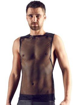 Síťované pánské tílko s lesklými ramenními vsadkami Svenjoyment – Pánská trička a tílka