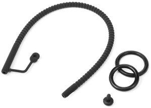 Silikonový katétr s vroubky, zátkou a kroužkem na penis – Katetry (pro cévkování)