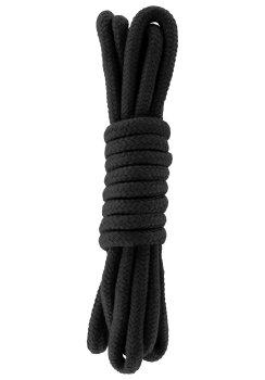 Lano na bondage Hidden Desire, 3 m (černé) – Bondage lana na vzrušující svazování