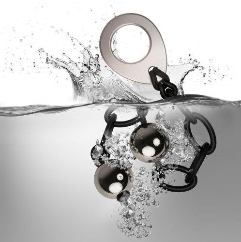 Těžké kovové vaginální kuličky Love In Chains