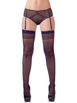 Průsvitné kalhotky s podvazky a punčochami – Erotické komplety