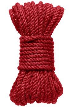 Konopné lano na bondage Hogtied Bind & Tie 30 ft, 9 m (červené) – Bondage lana na vzrušující svazování