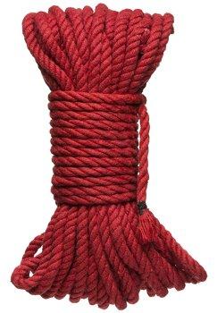 Konopné lano na bondage Hogtied Bind & Tie 50 ft, 15 m (červené) – Bondage lana na vzrušující svazování