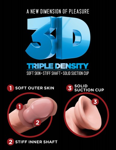 Realistické dildo Triple Density 8""